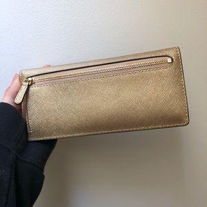 Michael Kors Bags - MICHAEL KORS gold wallet